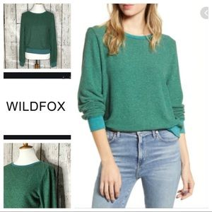 Wildfox baggy beach jumper pullover green XS